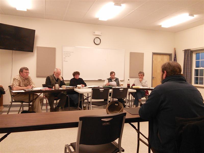 Paul Kelley addresses the Whitefield Selectmen