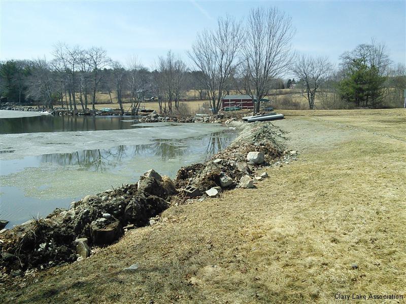 Damariscotta Lake Ice Damage